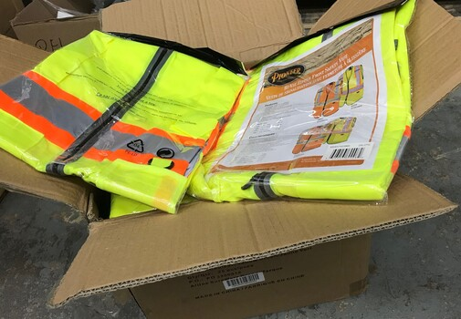 25 Pieces Pioneer Safety Vests - Tricot Poly - Multipocket - Yellow/Green Sz 2XL $350.00