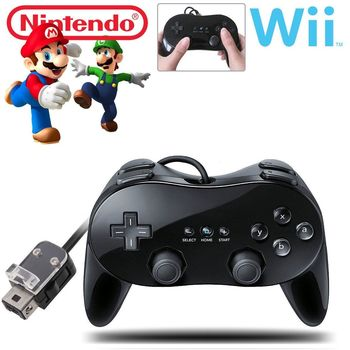 New Pro Classic Game Controller Pad Console Joy Pad For Nintendo Wii Remote Black