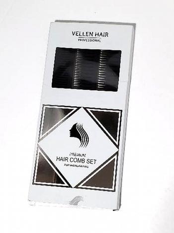 VELLAN 3PC Premium Hair Comb Set For Highlighting Black