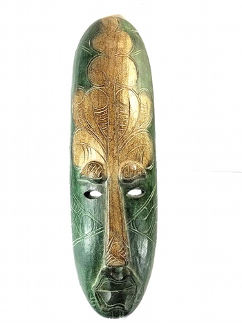 """Large 20"""" Vintage Hand Cared Wooden Tribal Mask"""