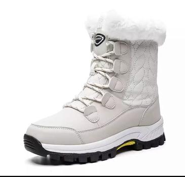 LADIES SZ 8 WHITE WINTER BOOTS