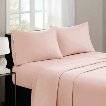 Queen Bed Sheet Set, Color: Hot Pink
