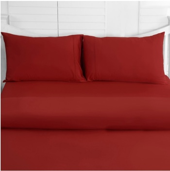 Queen Bed Sheet Set, Color: Rouge Red
