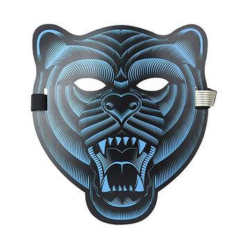 Halloween Sound Reactive Full Face LED Light Up Mask