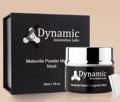 Dynamic Sonic METEORITE POWDER Magnetic Skin Detoxifying Mask retail $890