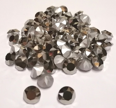 SWAROVSKI STONES - ART1200 SS60 SILVER FOILED COMET ARGENT LIGHT DENTELLES STONES - 188 PIECES