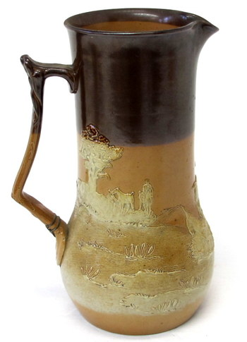 Rare Antique Royal Doulton Pottery Jug/Pitcher