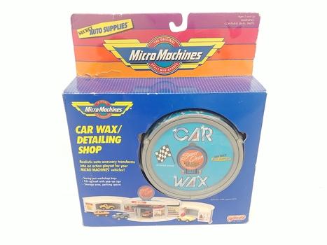 Vintage 1989 Micro Machines Car Wax/Detailing Shop Play Set