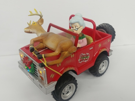 "Gemmy ""Grandma Got Run Over By A Reindeer"" Animated Musical Jeep"