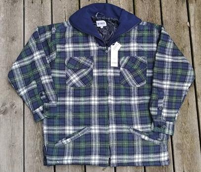 Men's Padded Flannel Workshirt, Size XXL
