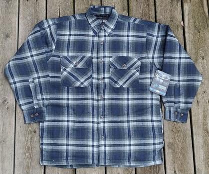 Men's Padded Flannel Workshirt, Size L