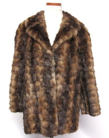 Vintage Women's Muskrat Fur Jacket- Size Medium