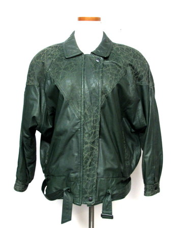 Vintage Women's Leather Jacket-Size M