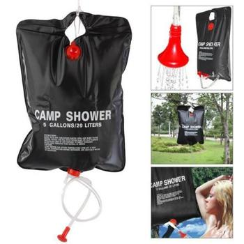 Solar Shower Bag 5 Gallon Camping Outdoor Portable Large Mount Hanging Campers