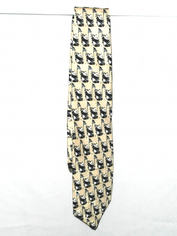 VTG Men's Essex Row Silk Tie - Panda Design