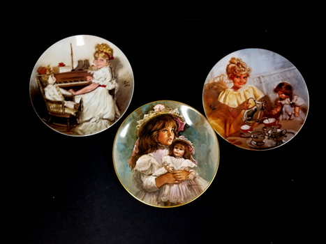 Lot of 3 Collectors Plates Ramona & Rachel, Cora's Tea Party & Cora's Recital