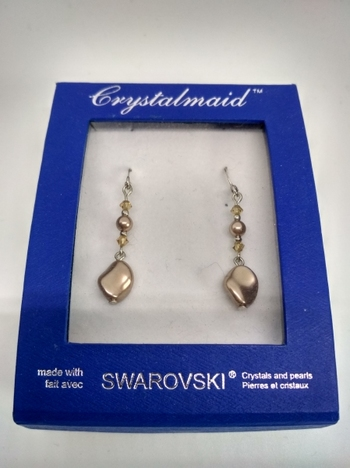 Swarovski Crystal Earrings 18K White Gold Plated