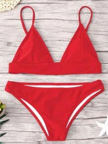 NWT Padding Bikini Set - Red Size M