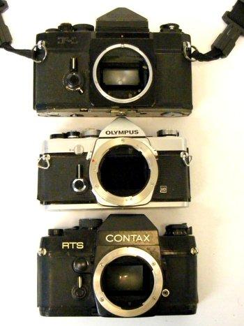 3  Classic 35mm Parts Cameras