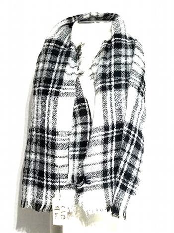 Black And White Checkered Unisex Fashion Scarf