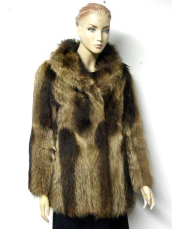 Women's Raccoon Coat  S