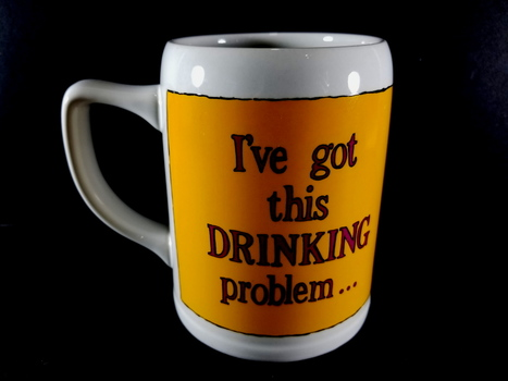 Funny Sayings Ceramic Coffee Mug - I`ve got this drinking problem