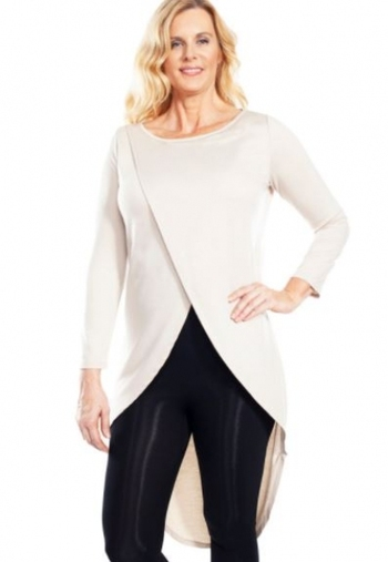 Ahh Dreams Long Back Crossover Front Duster, Color: Cream, Size: Small, Retail: $50.00 CAD