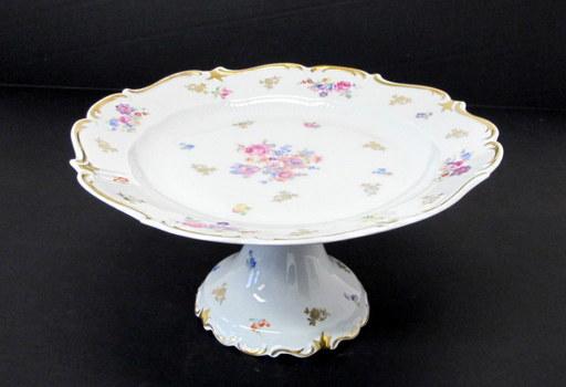 Vintage Reichenbach Pedestal Cake Plate- Made in the German Democratic Republic