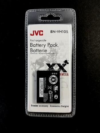 New JVC BN-VH105 Rechargable Battery Pack 3.7 Volt Li-Ion 1010 mAh