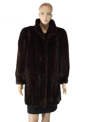 Mink Canadian Majestic Natural Mahogany Jacket Size Large $4,500.00