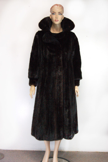 Mink Natural Russian Black Full Length Size Medium Compare $6,500.00