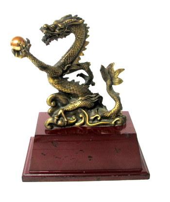 Vintage Solid Brass Dragon Decoration Piece