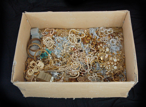 Jewelry - Over 10 Lbs of Assorted Gold and Silver Plated Jewelry