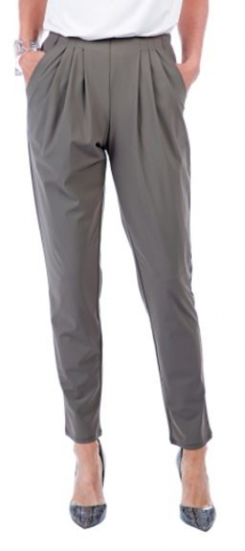 Marla Wynne Stretch Tech Slouch Pant, Size: Large, Color: Olive Grey, Retail: $102.00