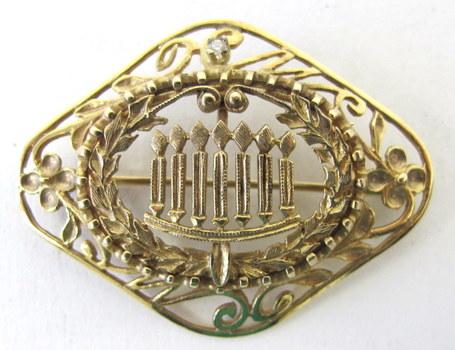 10 KT Gold  Brooch/Pendant