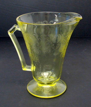 Vintage Yellow Depression Glass Pitcher