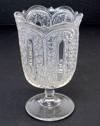 Antique Pressed Glass Pedestal Candy Dish-Circa 1910's