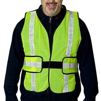 Lime Yellow Safety Vest One Size Fits All
