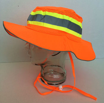 2 Pcs. Orange Boonie Safety Hat Size L/XL