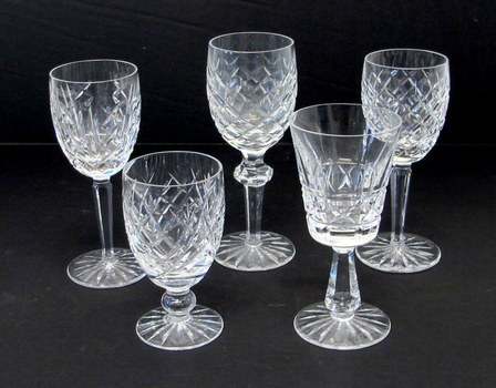 Assortment of Crystal Goblets by Waterford