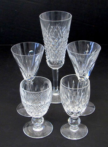 Assortment of Crystal Glasses by Waterford
