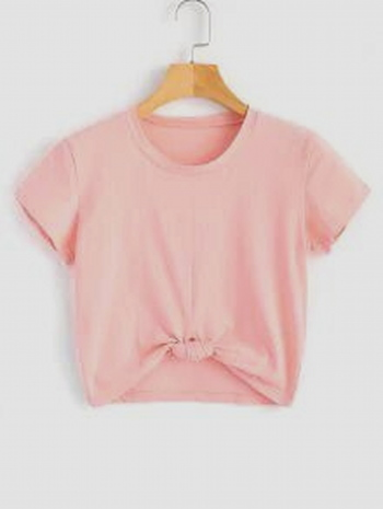 NWT  Cute Twist Tied Top - Pink - Size S