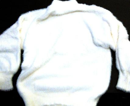 Women's Angora Sweater White Size S