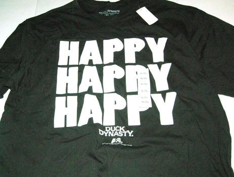 "DUCK DYNASTY ""Happy Happy Happy"" Men's Tee Size XL"