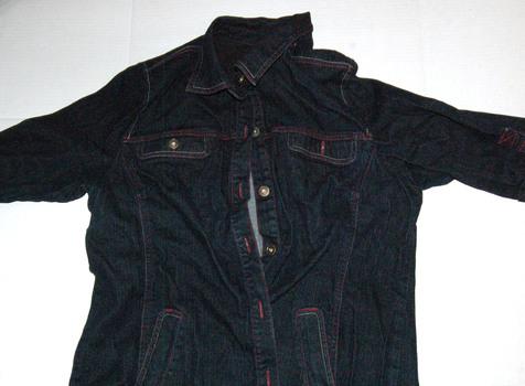 NORTHERN REFLECTIONS Women's Denim Quarter-Sleeve Jacket Size XL