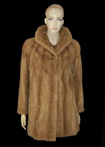 Hazelnut Color Mink Jacket - Size M - $3,000.00 Cold Storage Value