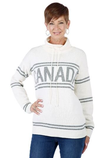 Cotton Country Canada Pullover Sweater, Colour: Natural , Size: Small, Retail: $120.00 CAD
