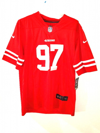 NWT Authentic Mens NFL Nick Bosa San Franscisco 49ers #97 Nike Red Jersey Size L