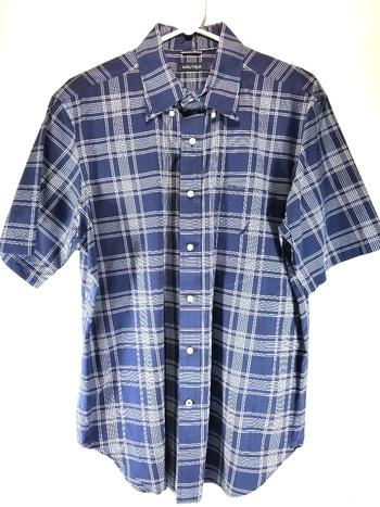 Nautica Mens Sz L Button Up Short Sleeve Shirt
