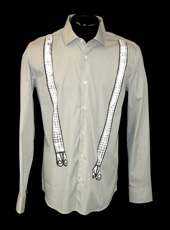 MOSCHINO MILAN Men's Long Sleeve Shirt - Size L - Retail $395.00